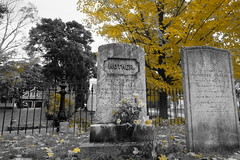 MOTHER (bndocksaints_kenny) Tags: october cemetery mother yellow ma grass stone graveyard hingham photograpy