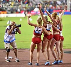 Østergaard L. / Karstoft I. / Graversgaard M. / Kramer M.U. (DEN) (Lukk2008) Tags: athletissima2018 iaafdiamondleague athletissimalausanne athletissima mathildekramer trackgirl leichtathletik athletics relay