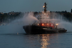 Fire Screen (armct) Tags: vancouver harbour harbor seaspan raven tug tugboat spray douse screen curtain nightlights night evening reflection workplace safety sealed airtight ship boat