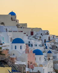 Three Domes (JH Images.co.uk) Tags: santorini ornage domes blue greece greek white house sunrise architecture hdr dri