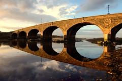The Deveron Bridge (iancowe) Tags: river deveron riverdeveron banff macduff estuary aberdeenshire scotland scottish johnsmeaton john smeaton reflection reflections sunset autumn autumnal evening civil engineer mirror