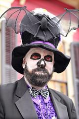bat hat (lucymagoo_images) Tags: canon eos rebel sl1 halloween portrait new orleans nola kreweofboo parade costume makeup louisiana