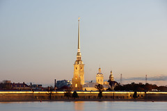 Peter and Paul Fortress, St Petersburg (asbrook1991) Tags: stpetersburg dawn peterandpaulfortress russia nevariver