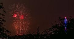 Fireworks from the back step.....miles away! (joanjbberry) Tags: fujifilm fujifilmxt3 xt3 fireworks longexposure manualexposure warrington moore