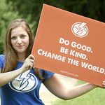 Alumna Amber Smith (Interdisciplinary Studies '09; MPA '12) helped create the Signs for Good campaign as part of her role as co-founder and executive director of Activate Good, a nonprofit volunteer center based in Raleigh.