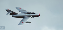 MiG 15 #4 - East Fortune 2018 (Chazzum) Tags: airshow airbus airplane aircraft east fortune eastfortune scotland national red arrows british german american wwii photography cold war mustang typhoon bronco texan mig15 museum
