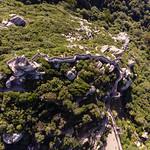 Die Burg Castelo Dos Mouros aus der Vogelperspektive thumbnail