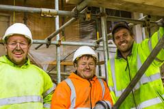 The builders! (dominiquita52) Tags: portrait builders maçon chantier site casque helmet