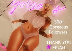 500+ Gorgeous Followers (Lioness1 Serenity) Tags: lioness1serenity lioness1 serenity secondlife avatar sl mesh slink hourglass catwa letre alantori hair