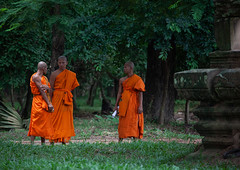 Monks in a garden in Angkor wat, Siem Reap Province, Angkor, Cambodia (Eric Lafforgue) Tags: adultsonly ancientcivilisation angkor angkorwat apsara asia asian buddhism buddhist cambodia cambodianethnicity clergy colourimage cultures developingcountries garden horizontal indochina khmer men menonly monk nature onlymen orange outdoors religion religious robe saffron smallgroupofpeople spirituality temple threepeople tradition traditionalclothing traditionallycambodian travel traveldestinations unescoworldheritagesite wat yasodharapura camboimg9333 siemreapprovince