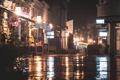 Night in the rain