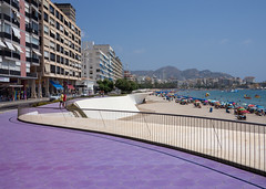 Poniente Beach, Benidorm. (CWhatPhotos) Tags: cwhatphotos poniente colors color promanade people view sand sun light sunlight blue sky skies olympus four thirds 43 omd em10 ii digital camera photographs photograph pics pictures pic picture image images foto fotos photography artistic that have which with contain artistc benidorm beach seaside resort spain costa blanca spanish fun hol holiday september 2018 ponientebeach hot day sea water purple walkway path