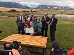 Zinke's signing of the Public Land Order