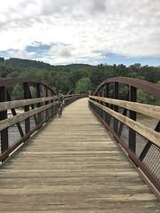 Ohiopyle SP ~ bridge over the Yough (karma (Karen)) Tags: ohiopyle pennsylvania ohiopylesp bridges railtrails fences hff iphone