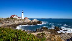 """Portland Head Lighthouse (KC Mike Day) Tags: """"new england maine portland lighthouse head atlantic rocks shore coastline"""