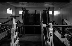 Steam Winder, Geevor (Rogpow) Tags: cornwall geevormine mine pendeen penwith stjustinpenwith museum winder winderdrums industrialhistory industrialarchaeology industrial industry abandoned disused tinmine metalmining metalmine fujifilm fuji fujixt1 bnw blackandwhite bw whiteandblack mono monochrome steam steamwinder