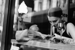 Swipe (McLovin 2.0) Tags: candid people cafe portrait urban city melbourne street streetphotography monochrome bw zeiss sony a7s 55mm window