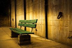 Visiting Hours Are Over (crowt59) Tags: visiting hours over fort de soto florida bench chain battery st petersburg green crowt59 lr lightroom texture sony a6300