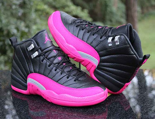 1c2b5dc6e0cf2 Air Jordan 12 Retro GG Playoffs Black Deadly Pink Silver 510815-026 Size 7Y