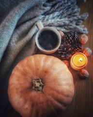 Cozy (Terezaki ✈) Tags: autumn fall cozy moody pumpkin layflat candle warm stilllife photoshooting photography