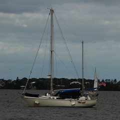AT REST (R. D. SMITH) Tags: sailboat water floating canoneos7d clouds florida crop squareformat hank you