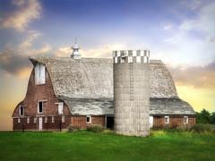 The barn 5 (mrbillt6) Tags: landscape rural prairie barn farm grass silo outdoors country countryside northdakota architecture building scenic summer sky
