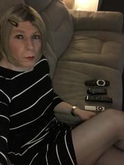(Sasskia1tranny) Tags: ladyboy minidress leggy lipstick stockings tranny sissy