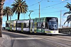Melbourne Tram (Dennisbon) Tags: dennisbon canon eos 7d melbourne australia tramtransport public beach stkilda tourist nopeopletrees greem lunapark