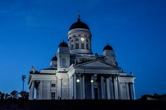 Cathedral on the Hill (MJSAFC10) Tags: helsinki finland finnish helsinkicathedral church cathedral bluehour night nightshot nightphotography architecture building