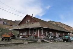 Virginia City: Freight Depot (Larry Myhre) Tags: desertghosts virginiaandtruckee railroad freightdepot virginiacity nevada