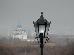 Over Moscow (janepesle) Tags: russia moscow panorama view architecture fog mist evening urban city cityscape outdoors church москва коломенское пейзаж lantern