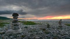 Pensarn Sunset (explore) (Poynton Robbo (www.clickar.co.uk)) Tags: pensarn northwales sunset stones pebble beach sky orange yellow