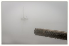So Tyred (urfnick) Tags: bala wales unitedkingdom gb moody misty foggy atmospheric boat yacht jetty