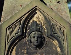 grave detail (Johnson Cameraface) Tags: 2018 september autumn olympus omde1 em1 micro43 mzuiko 60mm macro f28 johnsoncameraface yorkshiresculpturepark yorkshire ysp graveyard grave headstone gothic
