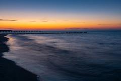 Ostsee  (14) (berndtolksdorf1) Tags: deutschland mecklenburgvorpommern zingst ostsee strand meer himmel sky sonnenuntergang stunde blauestunde abendstimmung wasser outdoor