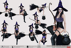 SEmotion Female Bento Modeling poses Set 39 (Marie Sims) Tags: halloween witch hat makeup broom semotion sl secondlife slfashion stands slavatar sweet ao animations animation avatar anim animaitons aohud animaions animated mocap modeling model mood autumn candy candies hud hot bento cool fancy trendy fashion holidays