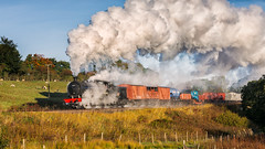 J27 Passing Abbots House (Frodingham Photographer) Tags: 2018 nymr nelpeg j27 steamgala train 65894 northyorkshiremoorsrailway freight