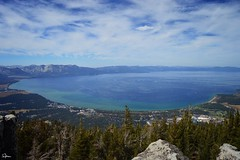 How big, how blue, how beautiful.... Lake Tahoe from Heavenly Mountain, CA. September 2018. (Jen_wilsonphotography) Tags: stateline clouds bluesky nature travel trip holiday view nikon sierranevadas mountain resort heavenlymountainskiresort heavenlymountainresort heavenlymountain heavenly california southlaketahoe tahoe laketahoe