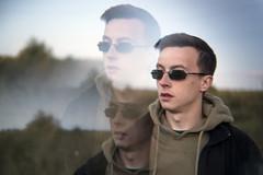(Boris Zhigun) Tags: belarus baranavichy xmount fujifilm xe1 portrait psychedelic multiplying sunglasses hoody sky field lofi grass triple multiplyingprism prism