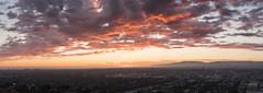 Tropical West Side Sunset (Kurt Lawson) Tags: baldwinhills california clouds culvercity losangeles mountains panorama santamonica stitched sunset tropical venice westla westside wilshire