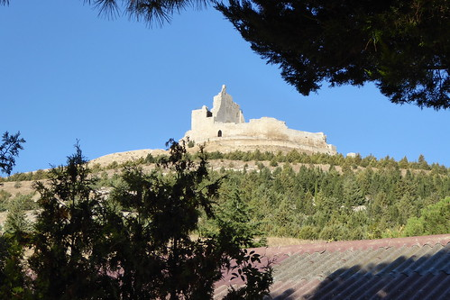 A view of the ruined Knights Templar castle in Castrojeriz