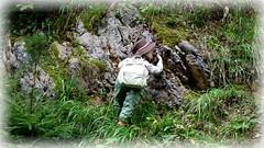 Luis, der Klettermaxe / Luis, the climbing-mad child (ursula.valtiner) Tags: puppe doll luis künstlerpuppe masterpiecedoll klettern climbing klettermaxe climbingmadchild felsen rocks berg mountain seil rope