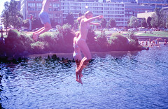 Swimming Through the Sky (Hayden_Williams) Tags: analog analogue analogdoubleexposure sky jump cliffjump swim swimming youth wild playful doubleexposure multipleexposure film filmdoubleexposure filmphotography