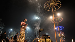 Before Aarthi (Sathish_Photography) Tags: varanasi kasi up uttar pradesh sathishphotography sathishfotography sathishkumarphotography nikond750 tamron1530mm wideangleshot eveningarthi colours smoke pooja devotional prayer