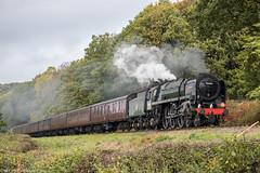 70000 at Northwood Lane 16.10.2018 (Wolfie2man) Tags: 70000 brittania steamengine steam steamtrain locomotiveserviceslimited lsl severnvalleyrailway northwoodlane britishrail bewdley