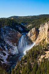 View of Icy Lower Falls from Lookout Point (Ernie Orr) Tags: bobrussell rmrussell tetons nationalpark yellowstone yellowstonenationalpark wyoming grandcanyonoftheyellowstone lowerfalls