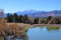 A Bit of the Country in the City (Patricia Henschen) Tags: lake pond reflection colorado coloradosprings coloradospringscolorado kettlelakes usairforceacademy afa us airforceacademy mountain frontrange rampartrange front rampart range pikespeak autumn