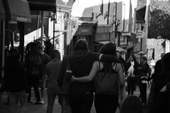 In Love (Bury Gardener) Tags: burystedmunds bw blackandwhite britain suffolk streetphotography street streetcandids snaps strangers candid candids people peoplewatching folks 2018 nikond7200 nikon england eastanglia monochrome mono abbeygatestreet