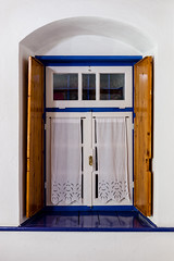 The Window, from the Inside (George Plakides) Tags: papingo zagoroxoria saxonishouses window casements curtains shutters arch top20greece epituswesternmacedoniagreece
