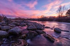 IMGP3986-HDR-Edit (Matt_Burt) Tags: color gunnisonriver motion reflection rocks sky sunset water whitewaterpark